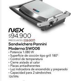 Oferta de Sandwichera pannini moderna sw006 por $94900
