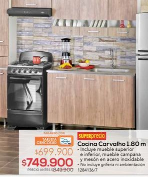 Oferta de Cocina carvalho 1,80m por $749900