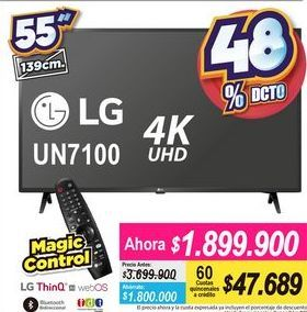 Oferta de Tv led 55'' LG por $1899900