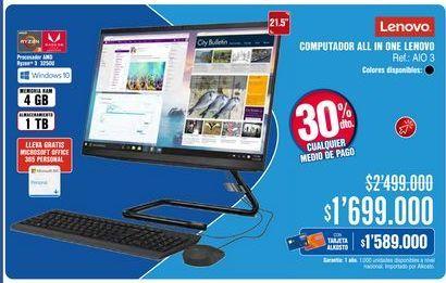 Oferta de Computador de mesa Lenovo por $1699000