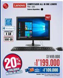 Oferta de Computador de mesa Lenovo por $1199000