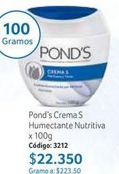 Oferta de Crema hidratante facial Pond's por $22350