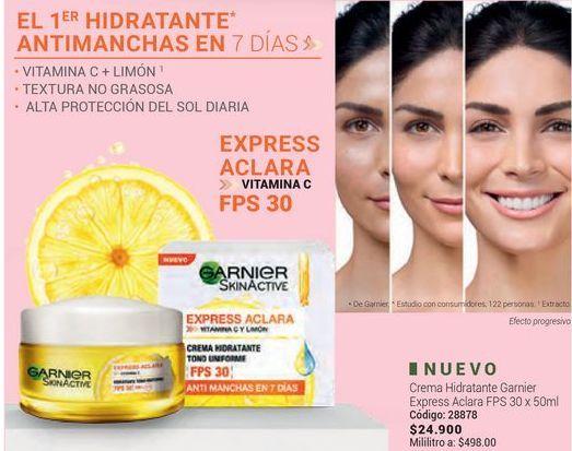 Oferta de Crema hidratante facial Garnier por $24900