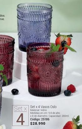 Oferta de Vasos por $28990