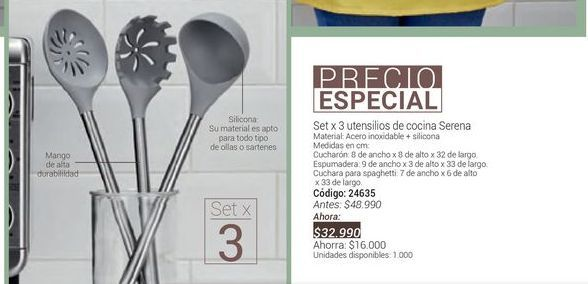 Oferta de Utensilios de cocina por $32990