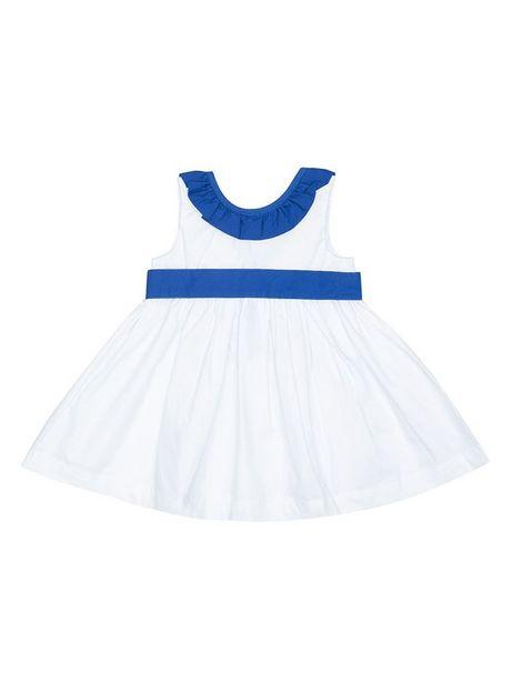 Oferta de Vestido Unicolor  Cuello En Contraste por $29950