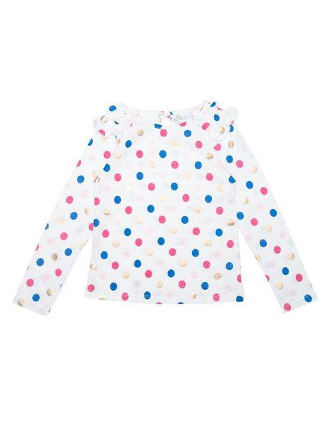 Oferta de Camiseta Estampada Con Círculos Manga Larga por $23960