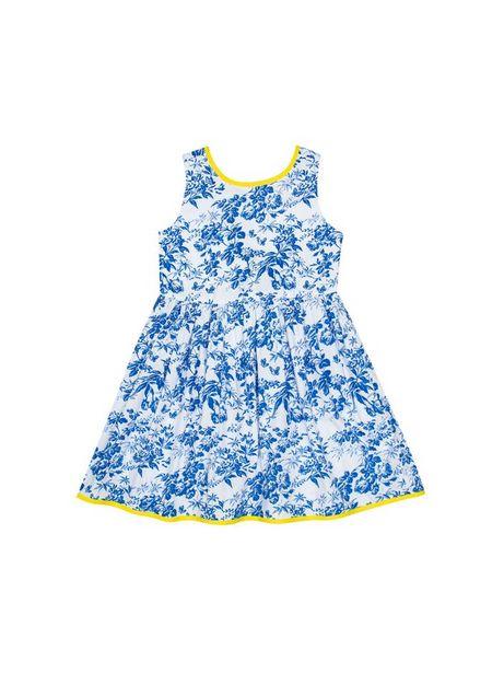 Oferta de Vestido Estampado Con Azulejos De Flores Sin Mangas por $69930