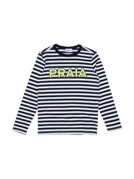 Oferta de Camiseta Estampada A Rayas Manga Larga por $27960