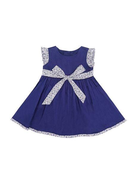 Oferta de Vestido Unicolor Con Detalles Estampados por $39960