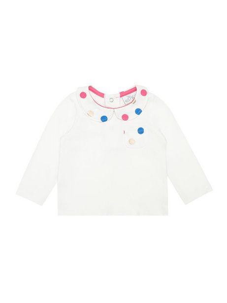 Oferta de Camiseta Unicolor Con Estampado De Círculos Manga Larga por $23960