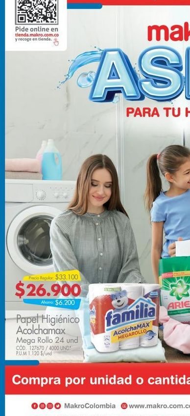 Oferta de Papel higiénico Familia acolchamax 24und por $26900