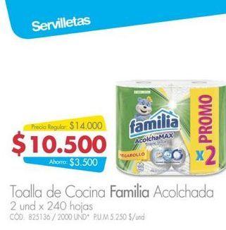 Oferta de Toalla de cocina Familia 240hojas  por $10500