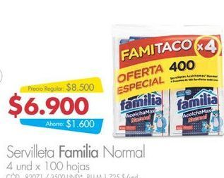 Oferta de Servilletas Familia 100hojas  por $6900