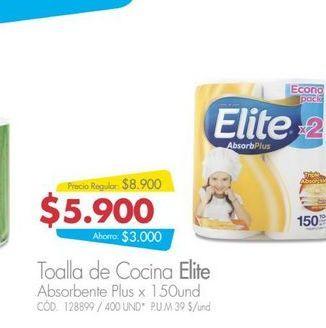Oferta de Rollos de papel Elite 150und  por $5900