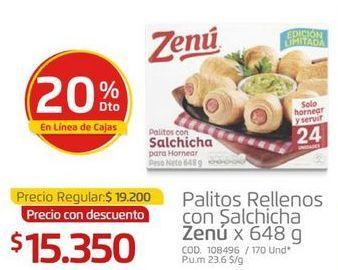 Oferta de Palitos rellenos con salchichas Zenú por $15350