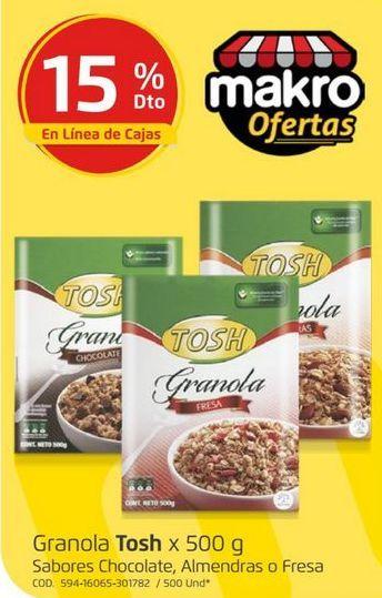 Oferta de Cereales Tosh por