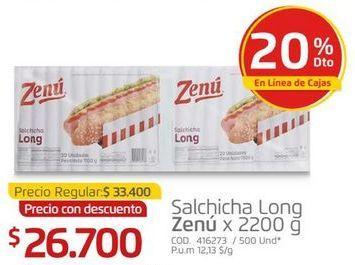 Oferta de Salchichas Zenú por $26700