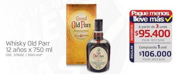Oferta de Whisky Old Parr por $106000