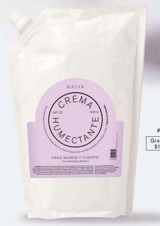 Oferta de Crema hidratante Malva por $18990