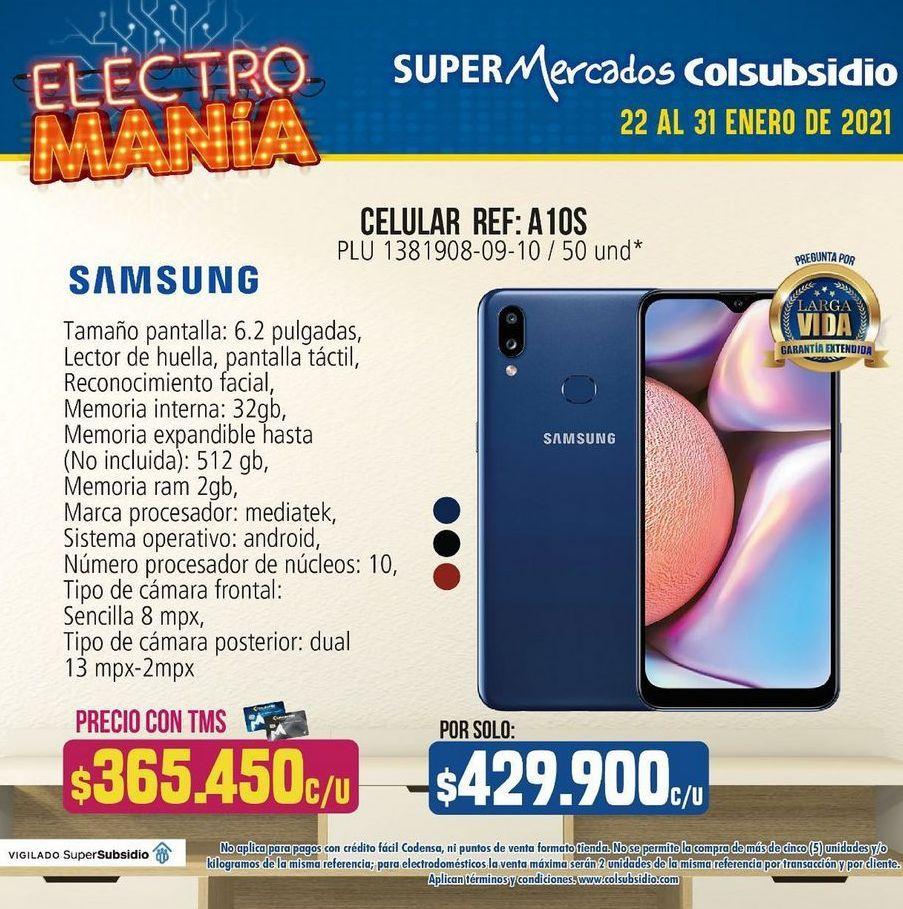 Oferta de Celulares Samsung A10s por $429900