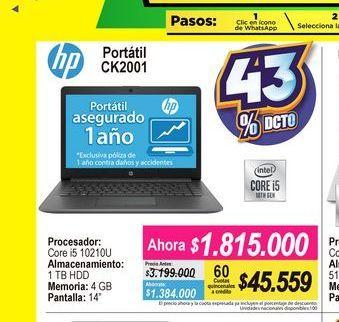 Oferta de Computador Portátil HP 14'' por $1815000