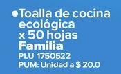 Oferta de Toalla de cocina Familia por $1000