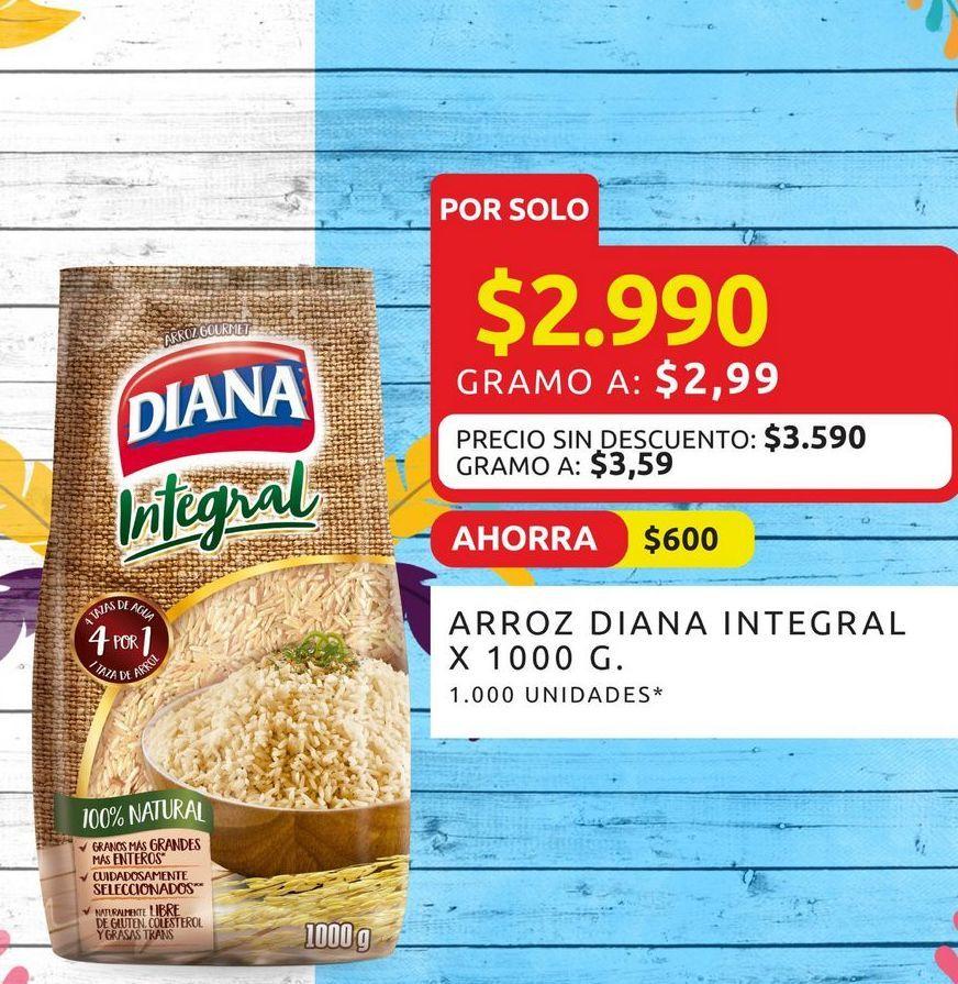 Oferta de Arroz Diana integral x 1000g por $2990
