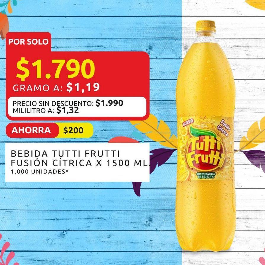 Oferta de Bbebida fusión cítrica x 1500ml tutti Frutti por $1790