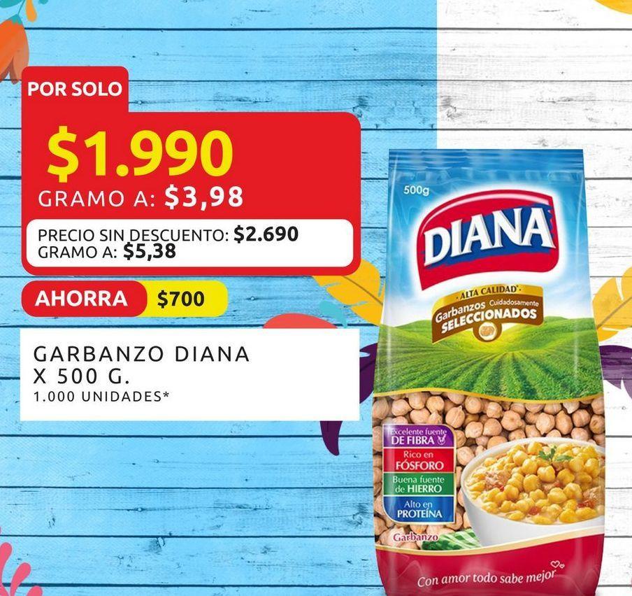 Oferta de Garbanzos Diana 500g  por $1990