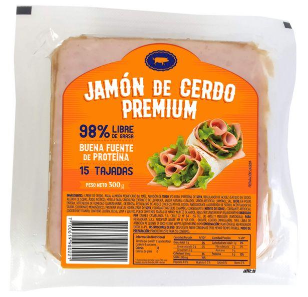 Oferta de Jamón de Cerdo Premium 300 Gr por $6500