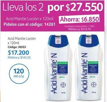 Oferta de Loción hidratante Acid Mantle por $17200