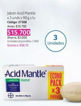Oferta de Jabón de tocador Acid Mantle por $15700