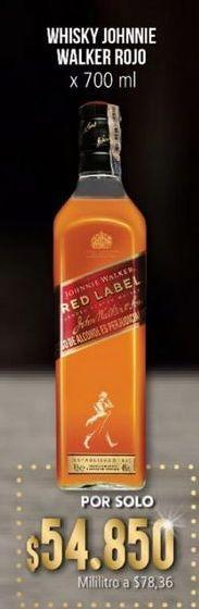Oferta de Whisky Johnnie Walker por $54850