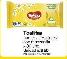 Oferta de Toallas húmedas para bebé Huggies por $4000
