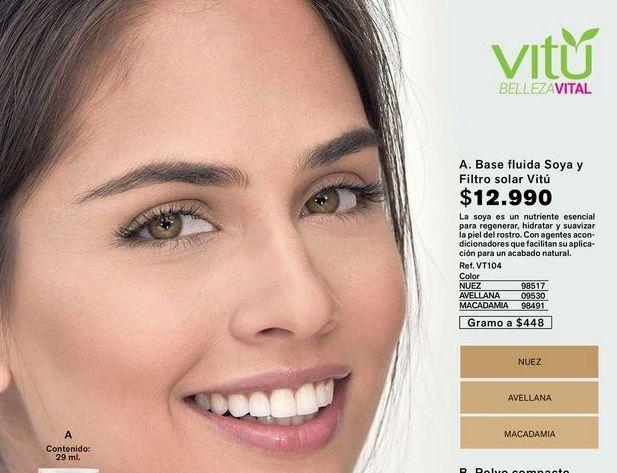 Oferta de Base fluida soya y filtro solar VITU  por $12990