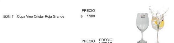 Oferta de Copa de vino Cristar por $7900