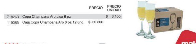 Oferta de Copa de champagne Aro por $30800