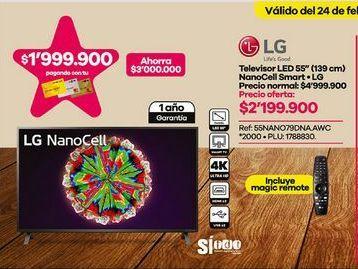 Oferta de Smart tv led 55'' LG por $2199900