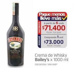 Oferta de Crema de whisky Baileys por $73000