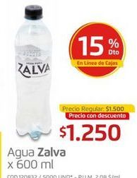 Oferta de Agua por $1250