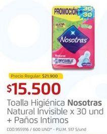 Oferta de Toallas higiénicas Nosotras por $15500