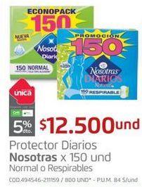 Oferta de Toallas higiénicas Nosotras por $12500