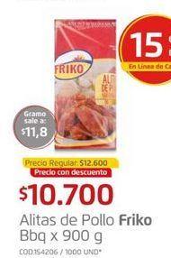 Oferta de Alitas de pollo FRIKO BBQ 900G  por $10700