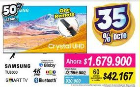 Oferta de Smart tv led 50'' Samsung por $1679900