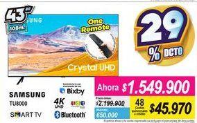 Oferta de Smart tv led Samsung por $1549900