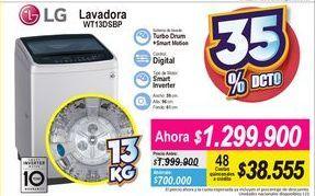 Oferta de Lavadora carga superior LG por $1299900