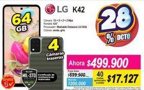 Oferta de Celulares LG por $499900