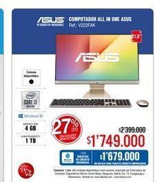 Oferta de All in One Asus 21,5'' por $1749000