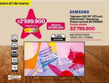 Oferta de Smart tv led Samsung por $2799900
